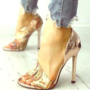 Shoes - Boutique | paisley heeled sandals